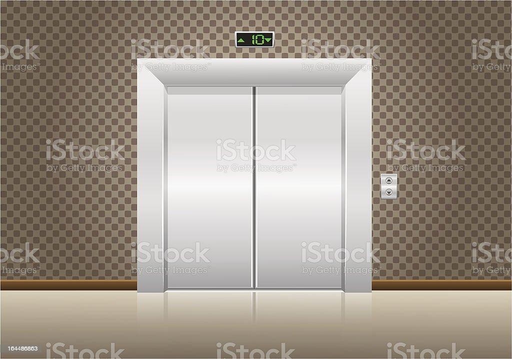 elevator doors closed royalty-free stock vector art