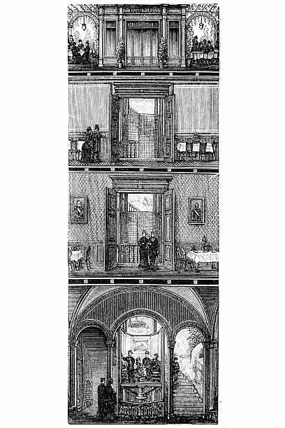 Vintage Elevator Illustrations, Royalty-Free Vector ...