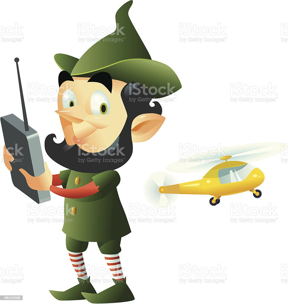 Elf with RC toy royalty-free elf with rc toy stock vector art & more images of adult