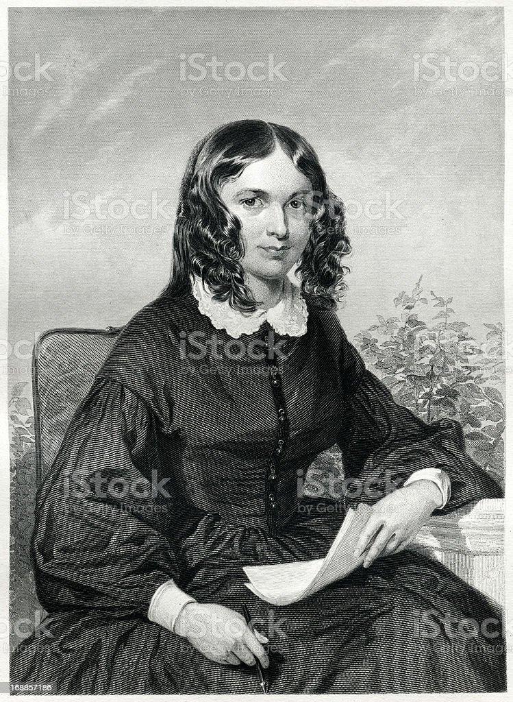 Elizabeth Barrett Browning vector art illustration
