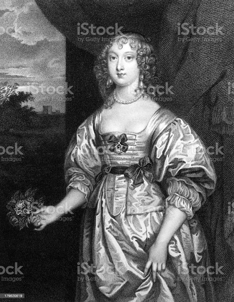 Elizabeth Cecil, Countess of Devonshire vector art illustration