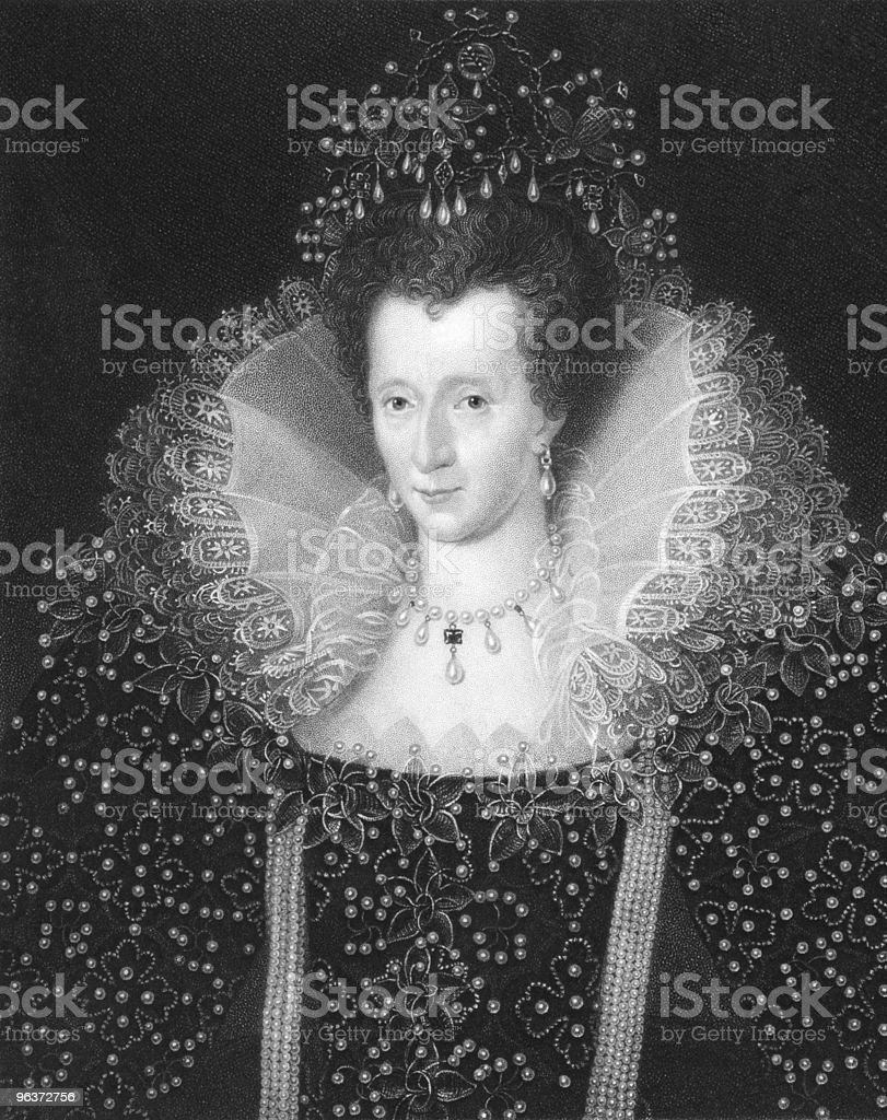 Elizabeth I vector art illustration