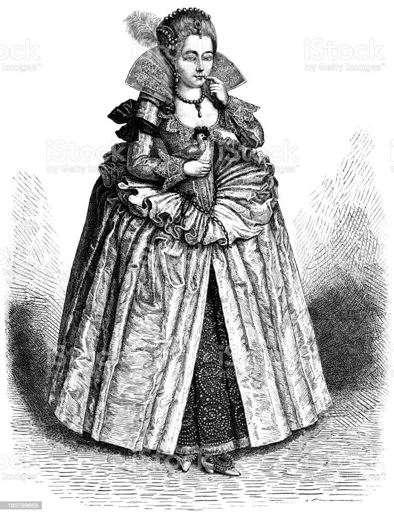 Elizabeth I Of England royalty-free stock vector art