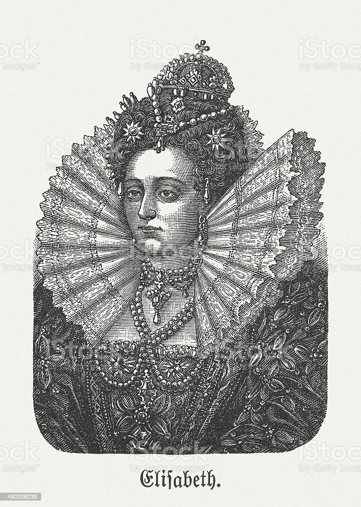 Elizabeth I of England vector art illustration