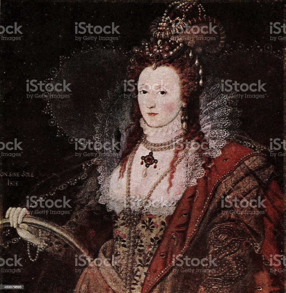 Elizabeth I,Queen of England. vector art illustration