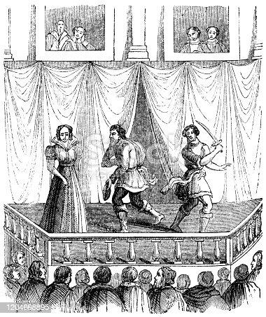 istock Elizabethan Renaissance Theatre - 17th Century 1204668895