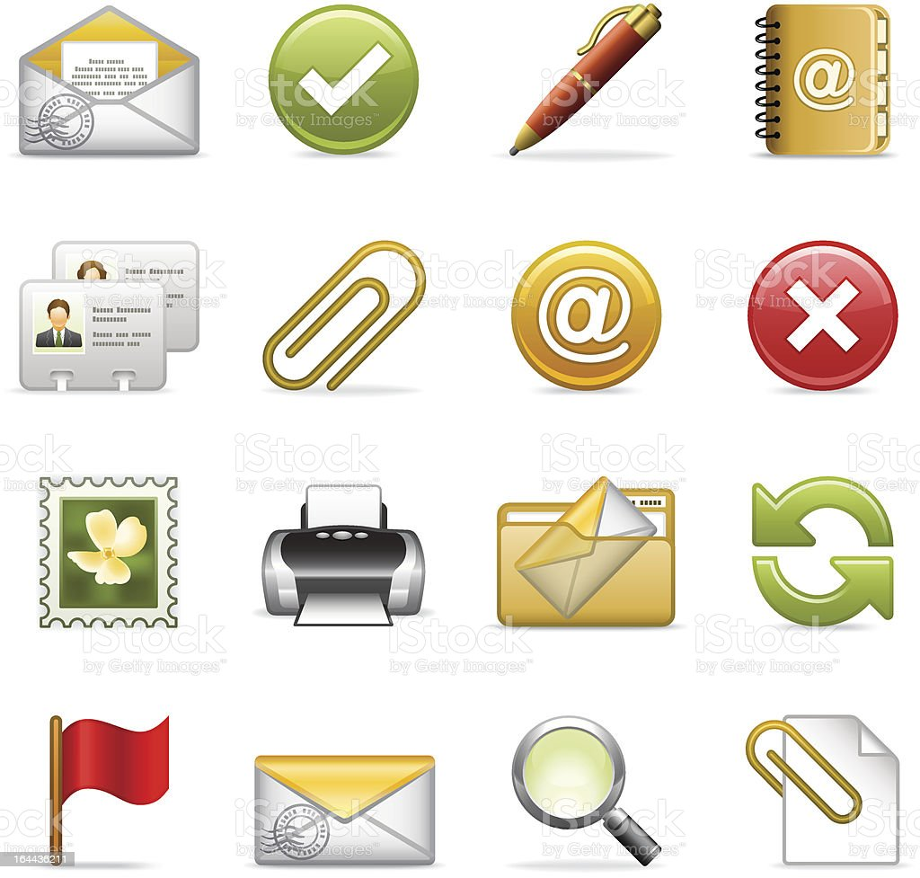 E-mail icons. royalty-free stock vector art