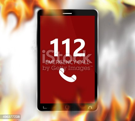 istock emergency call 112 red design 496377208