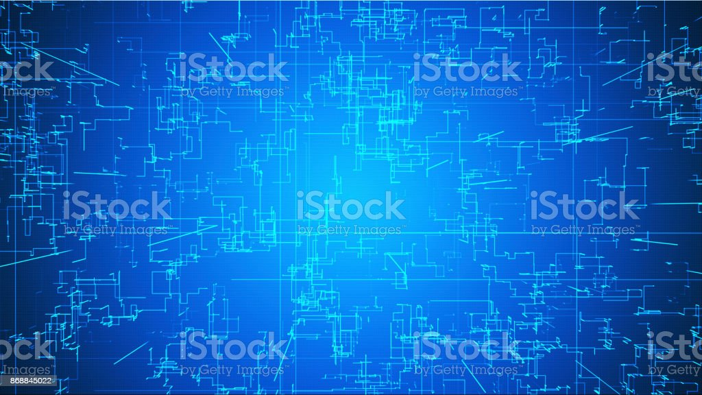 Emerging connections, conductors and neural signals over graduated glowing background. Digital connectivity, artificial intelligence and data storage concept vector art illustration