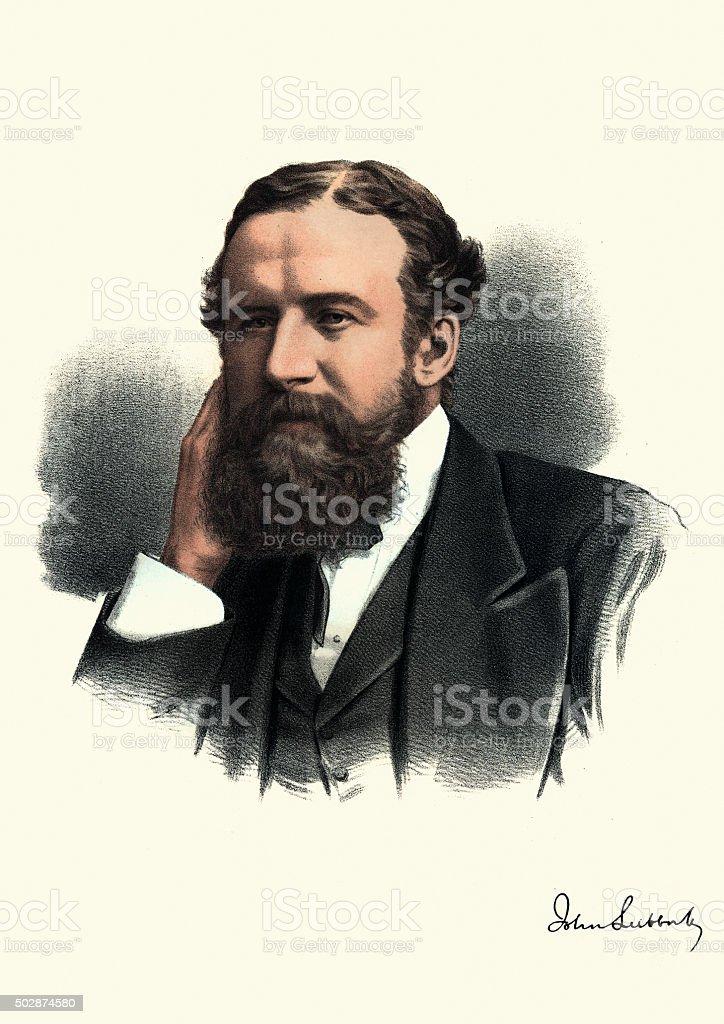 ビクトリア-著名人のポートレート、ジョン・ラボック、1 バロン Avebury ベクターアートイラスト