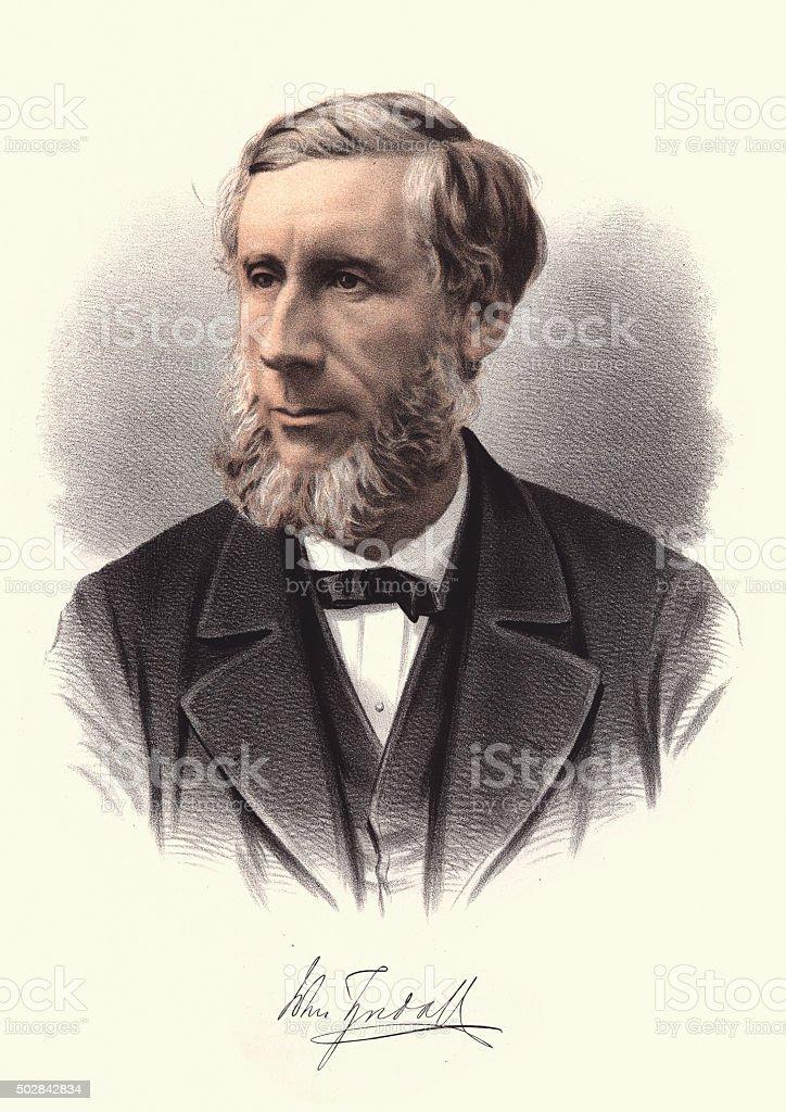 Eminent Victorians - Portrait of John Tyndall vector art illustration