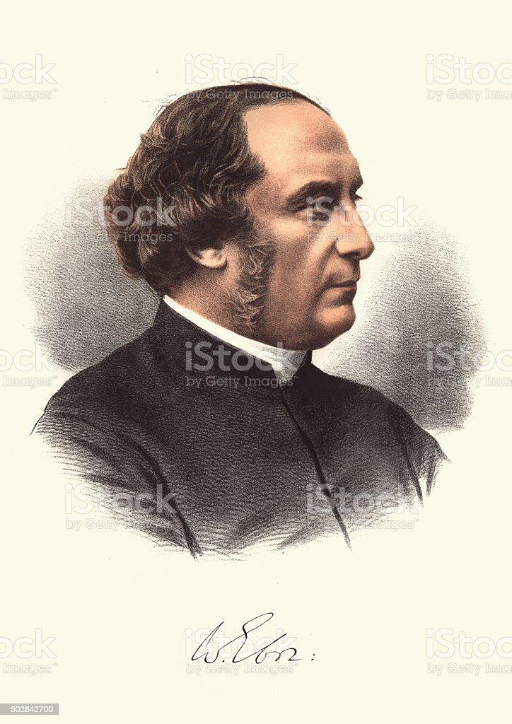 Eminent Victorians - William Thomson Archbishop of York vector art illustration