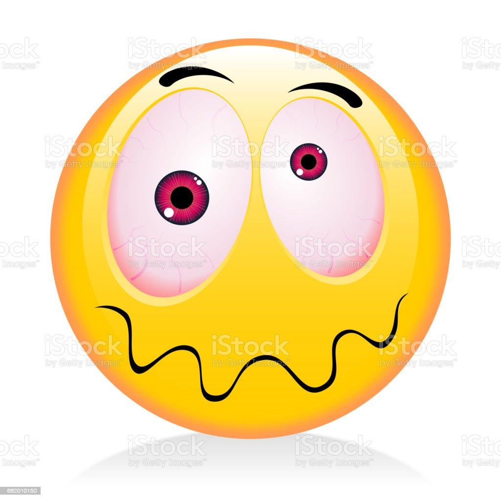 Emoji, emoticon - drunkard vector art illustration