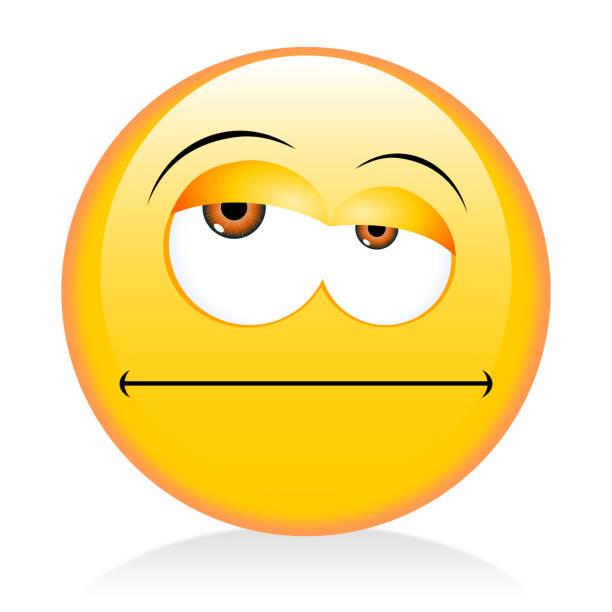 Emoji, emoticonos - gruñón - ilustración de arte vectorial