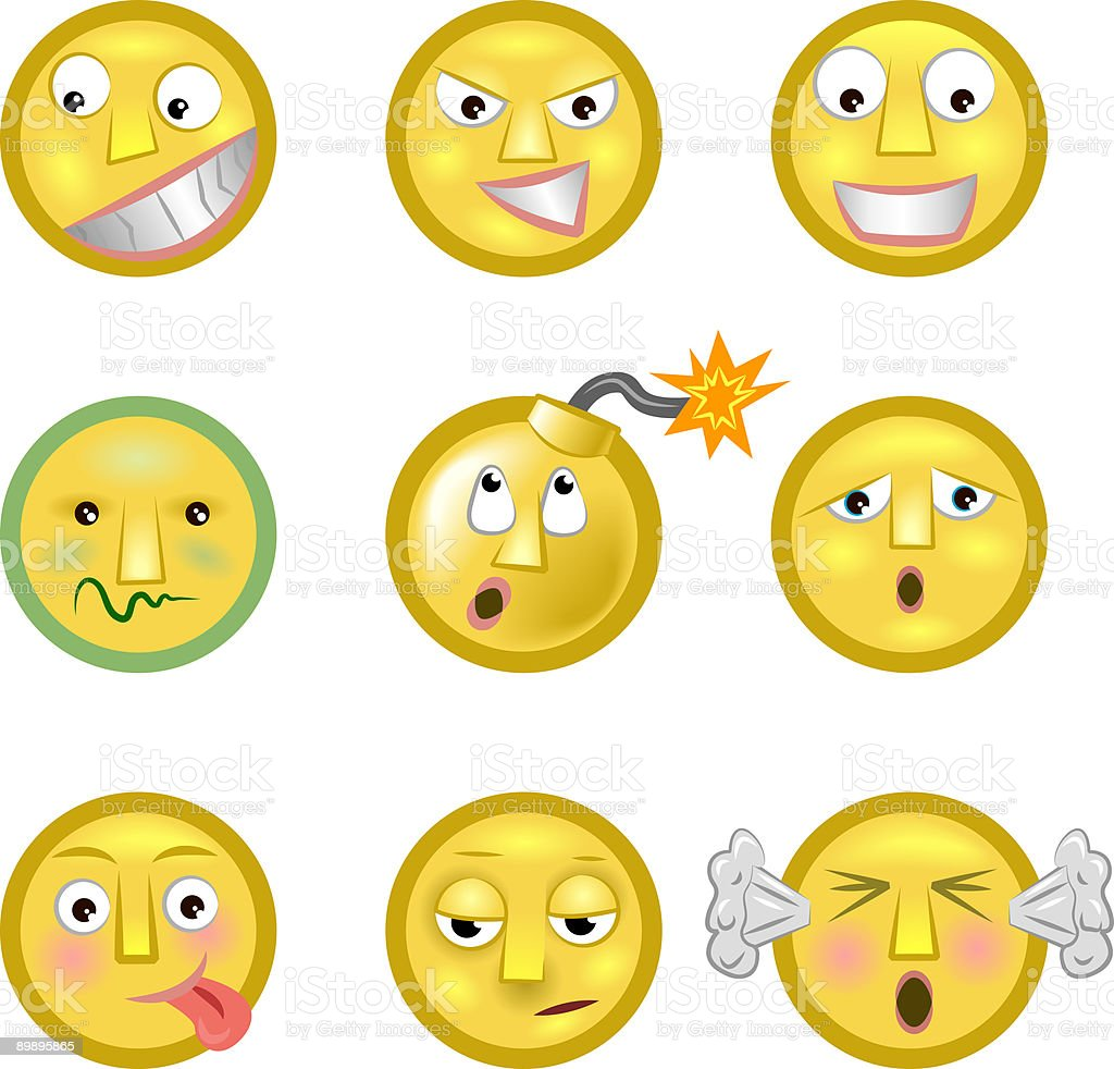 Emoticons royalty-free emoticons stock vector art & more images of anger