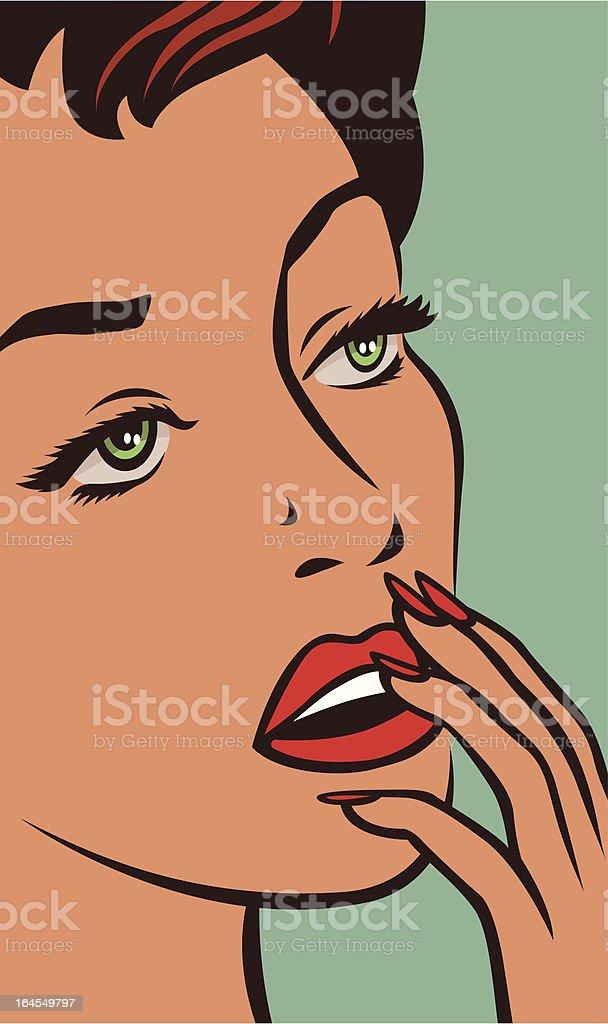Emotion retro vector art illustration