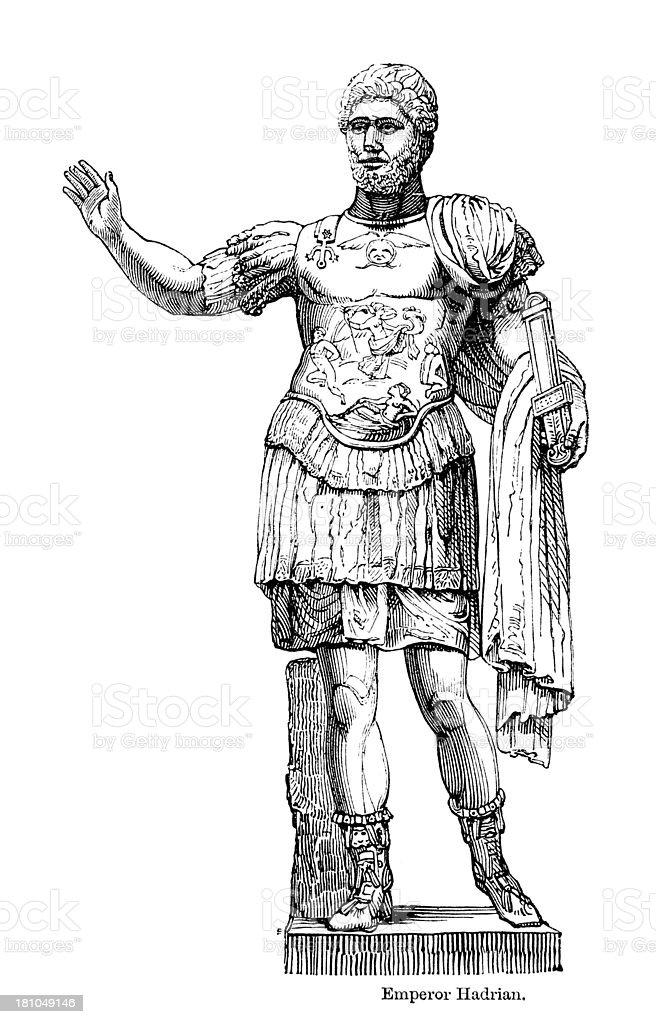 Emperor Hadrian royalty-free stock vector art