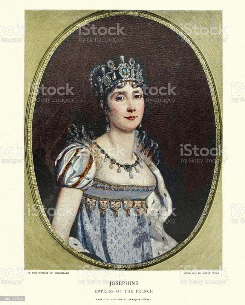 Empress Josephine vector art illustration