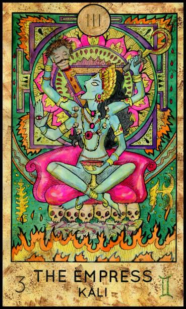 Empress. Kali Hindu Goddess. vector art illustration