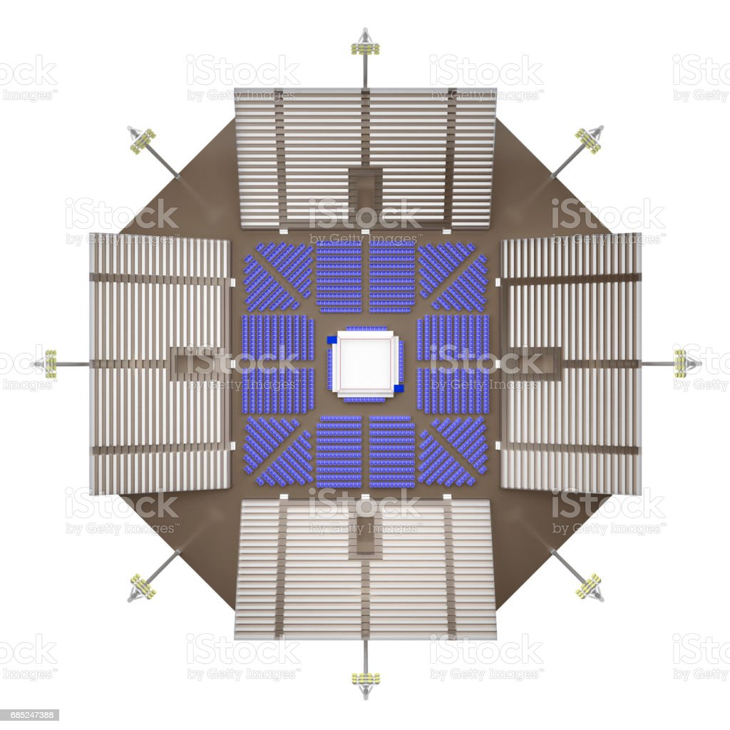 empty arena boxing top view 3d rendering royalty-free empty arena boxing top view 3d rendering stock vector art & more images of bench