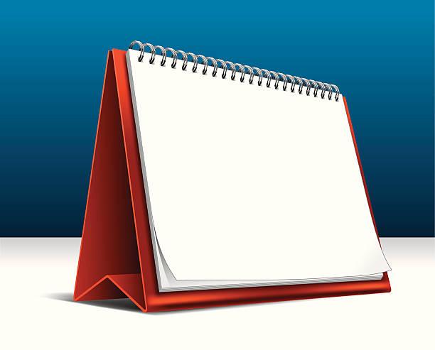 leere kalender - tischkalender stock-grafiken, -clipart, -cartoons und -symbole