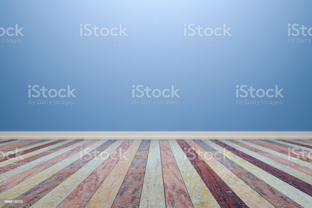 Empty interior light blue room with wooden floor, For display of your products.  - 3D render image. royalty-free empty interior light blue room with wooden floor for display of your products 3d render image stock vector art & more images of architecture