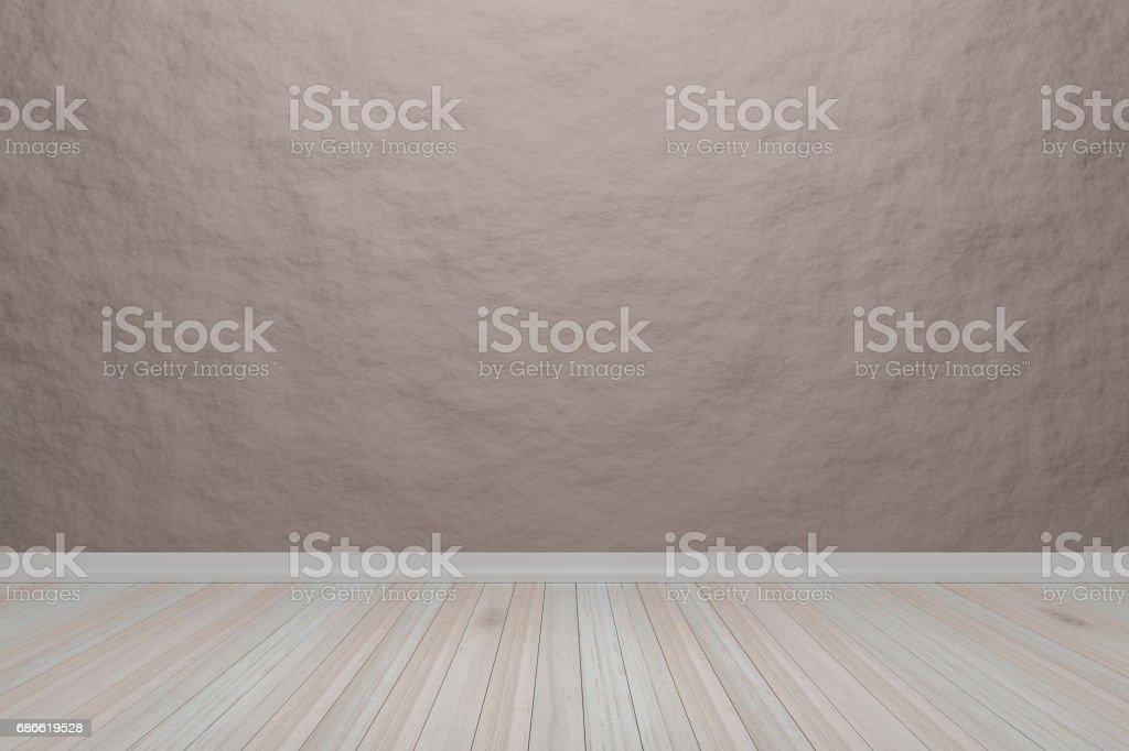 Intérieur lumière brun salle vide avec plancher en bois, pour l'affichage de vos produits.  -Rendu 3D image. intérieur lumière brun salle vide avec plancher en bois pour laffichage de vos produits rendu 3d image – cliparts vectoriels et plus d'images de affaires libre de droits