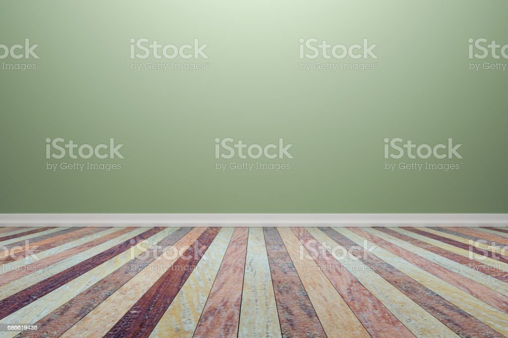 Empty interior light green room with wooden floor, For display of your products.  - 3D render image. royalty-free empty interior light green room with wooden floor for display of your products 3d render image stock vector art & more images of architecture