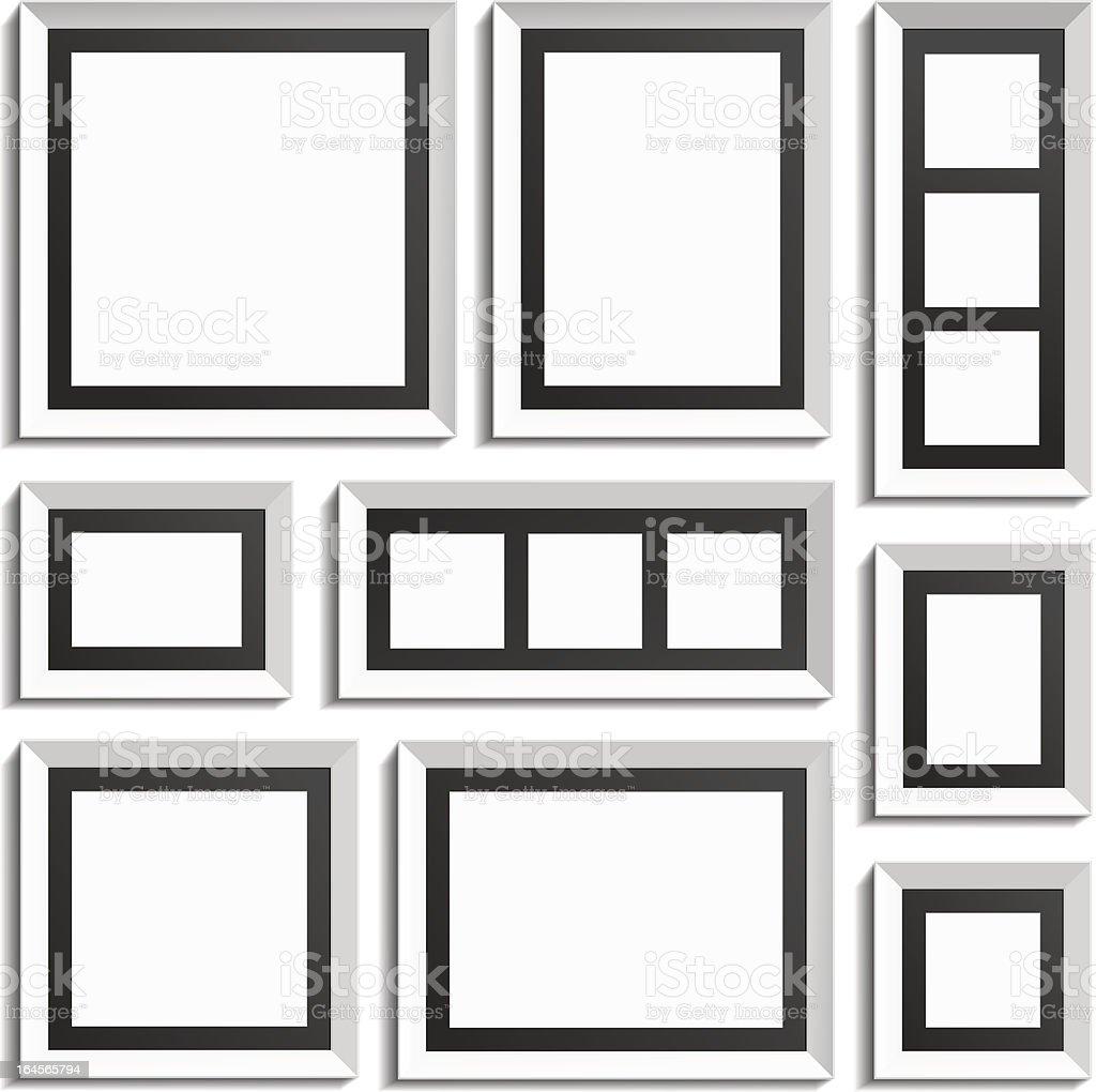Empty modern frames royalty-free empty modern frames stock vector art & more images of art