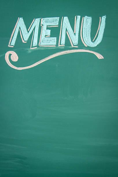 Empty Restaurant Menu Chalkboard vector art illustration
