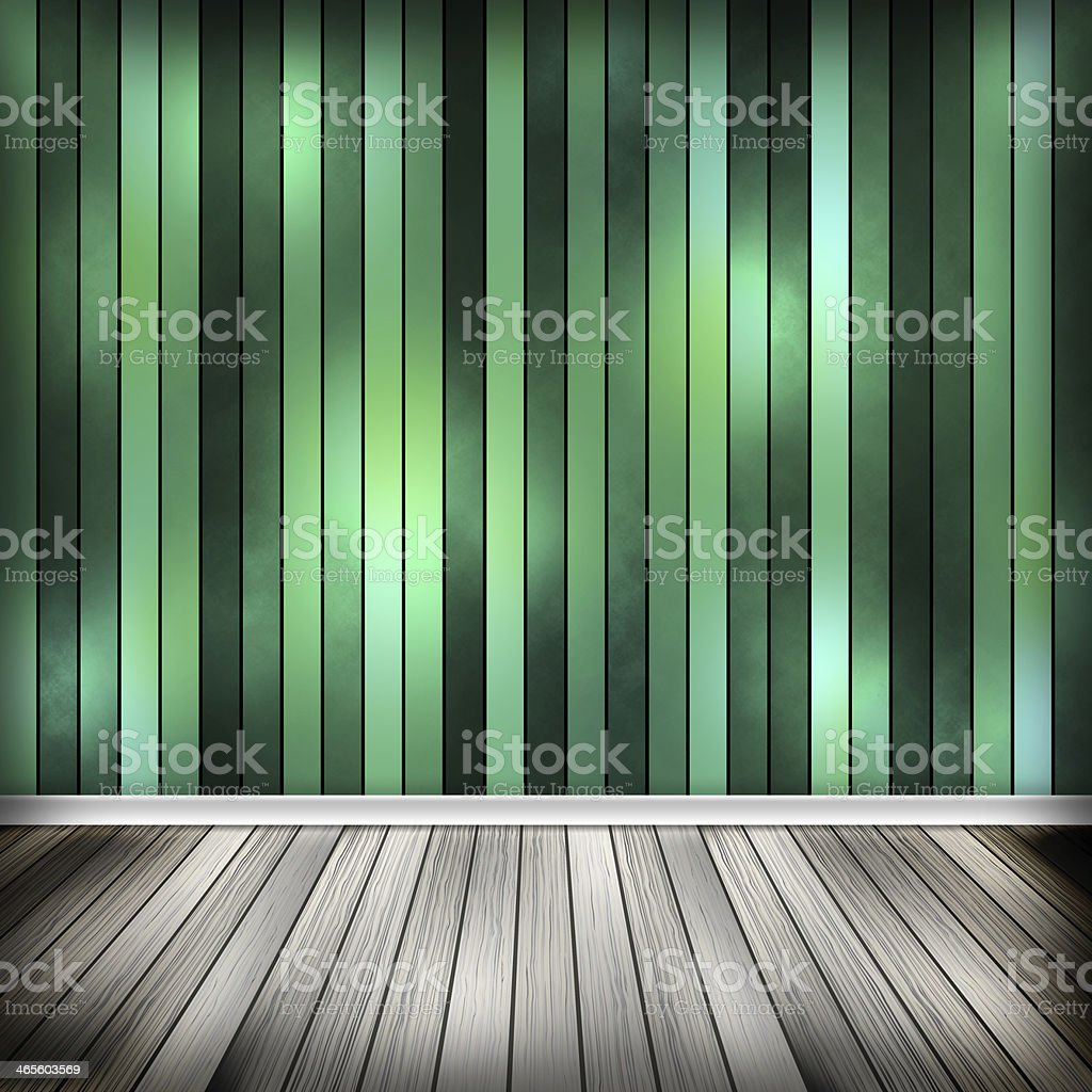 Empty room, interior with green wallpaper. High resolution textu royalty-free stock vector art