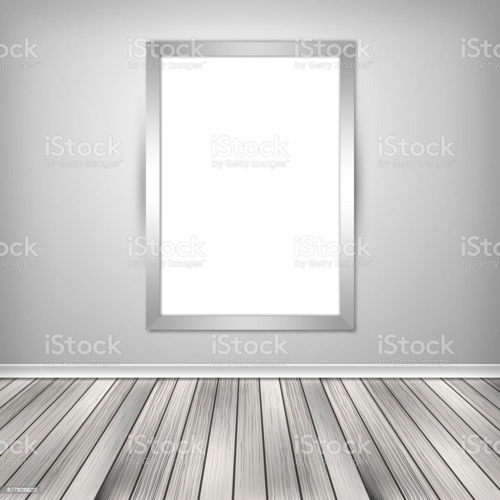Cartel Habitación Vacía Con El Marco En Blanco Imitan Para Arriba En ...
