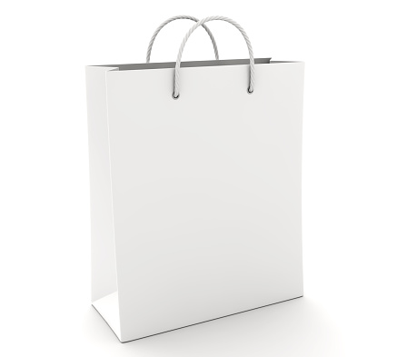 Empty Shopping Bag on the white