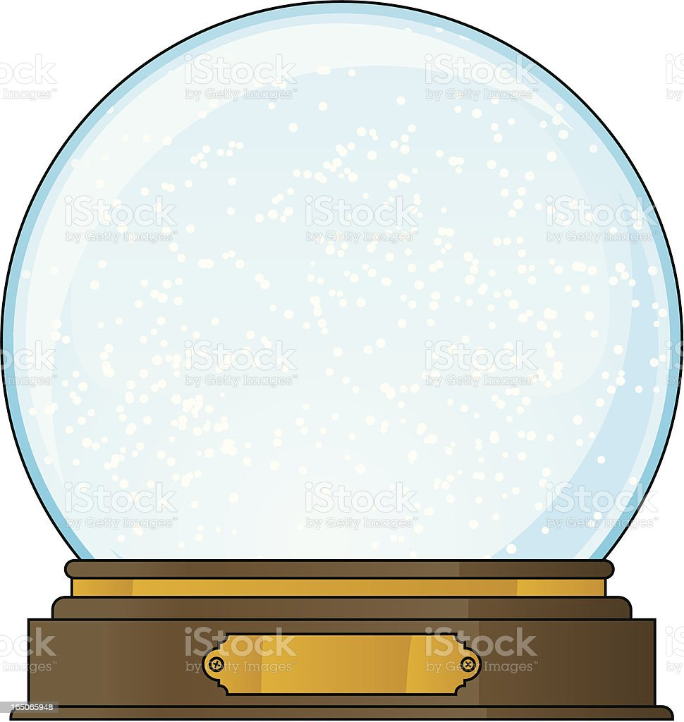empty snowglobe royalty-free empty snowglobe stock vector art & more images of celebration event