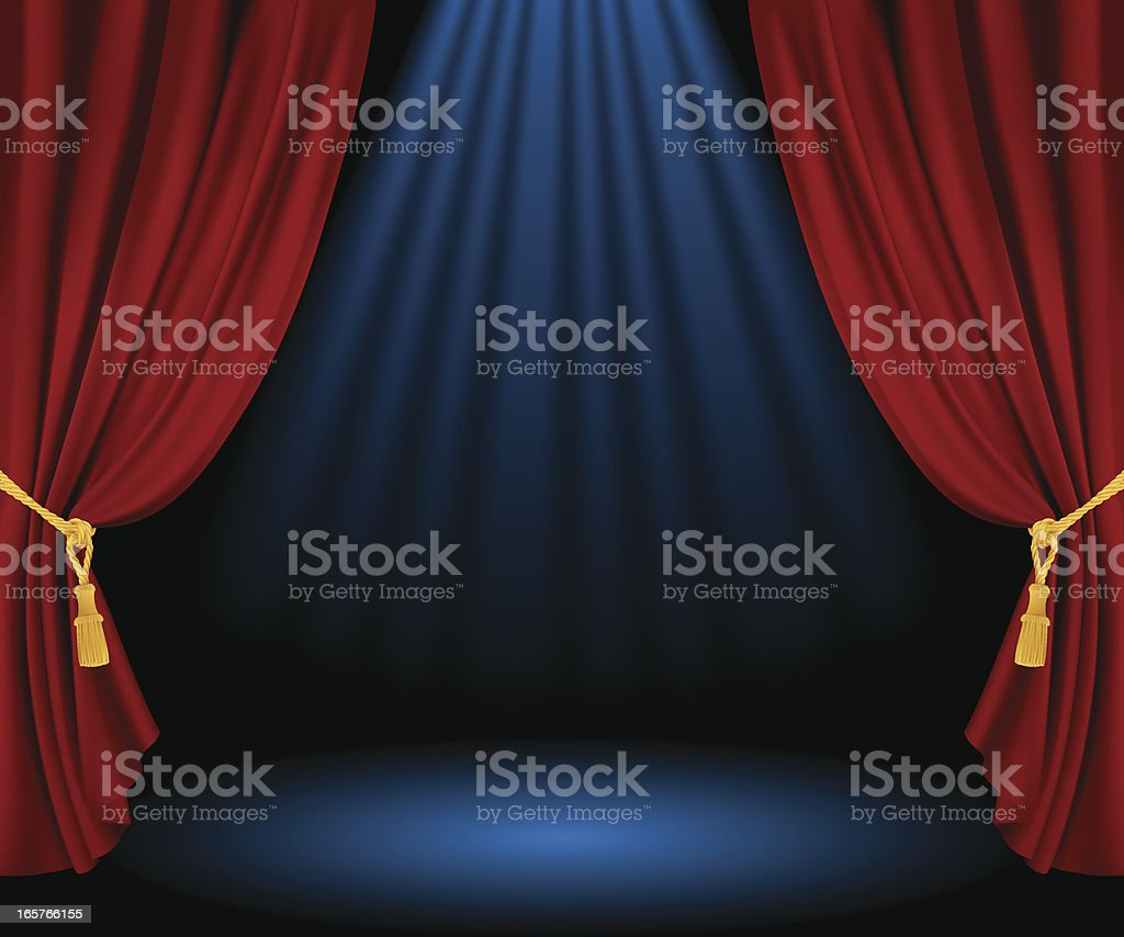 Empty stage vector art illustration