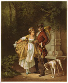 istock En Passant, Galant scene from the Baroque-period, lithograph, published 1872 104737128