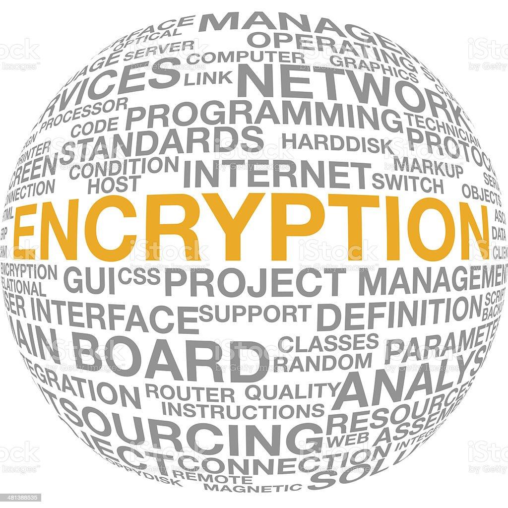 暗号化ワード雲のテキスト it技術者のベクターアート素材や画像を多数