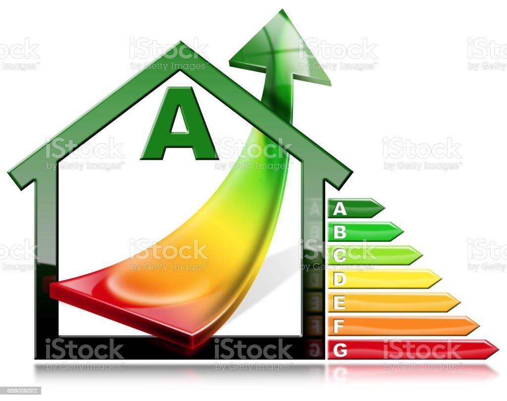 efficacité énergétique maison avec économie dénergie – cliparts