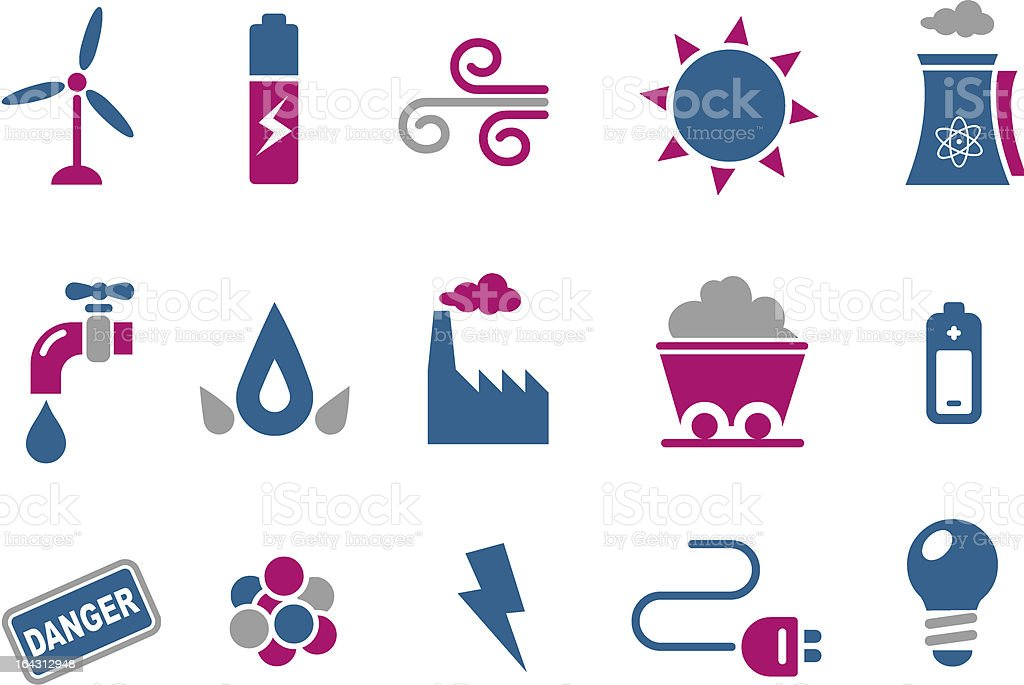 Energy Icon Set royalty-free energy icon set stock vector art & more images of air pollution