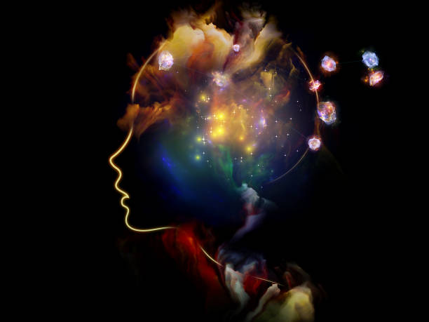 Energy of Human Mind vector art illustration