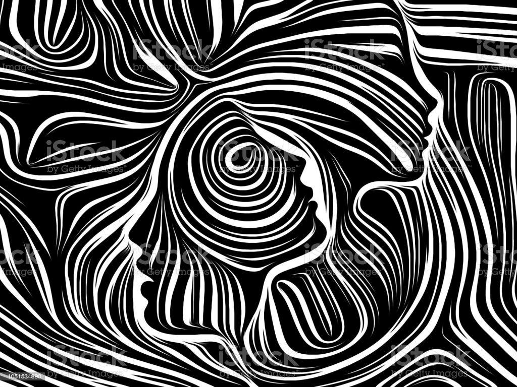 Energy of Inner Lines vector art illustration