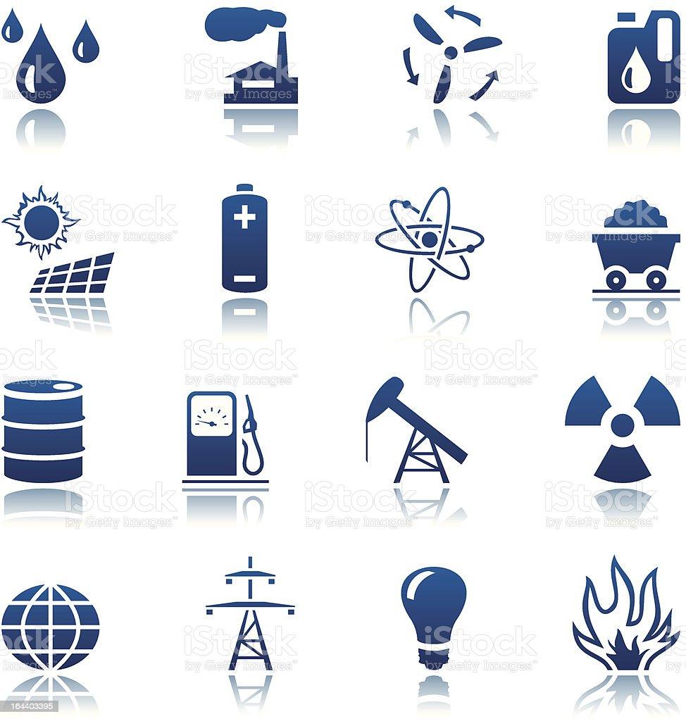 Energy & resource icon set vector art illustration