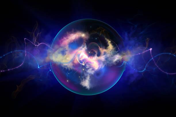 energy sphere vector art illustration