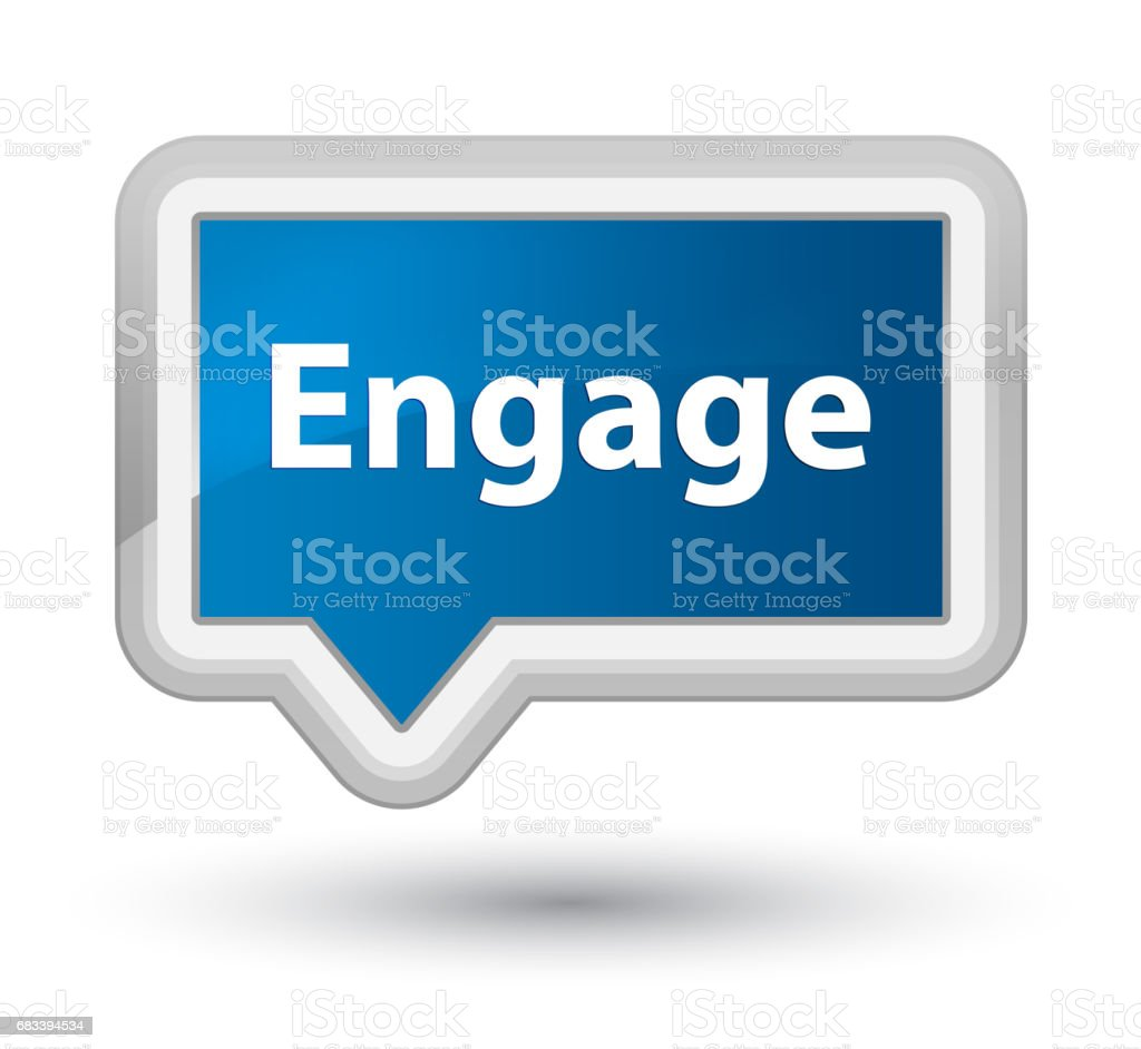 Engage prime blue banner button vector art illustration