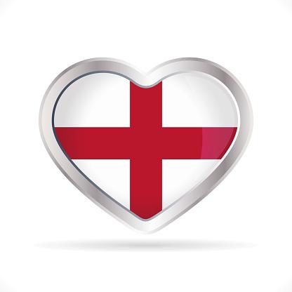 England heart icon