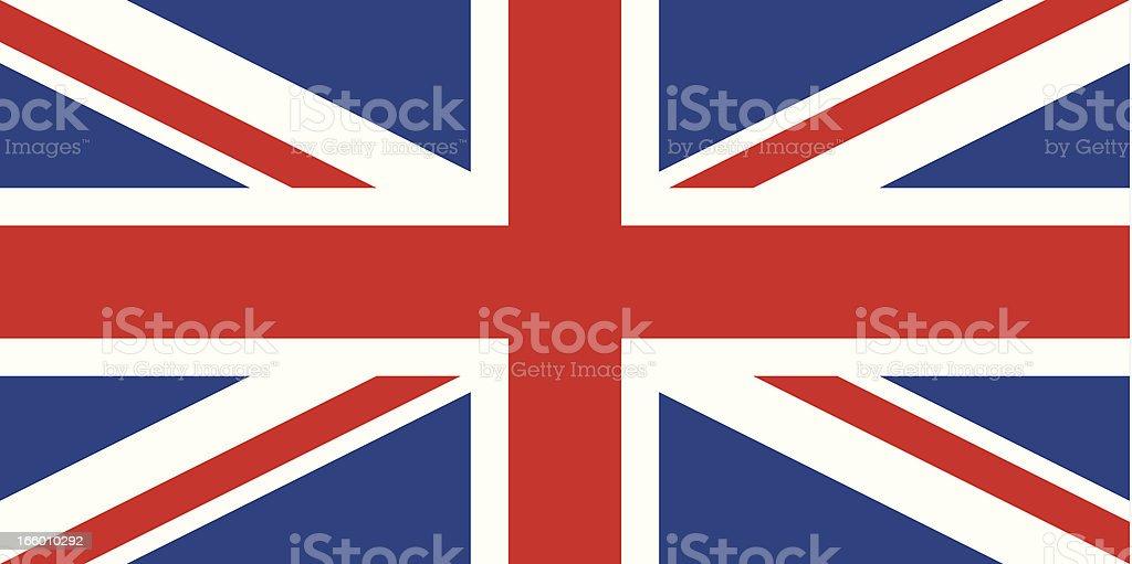england or british flag vector art illustration