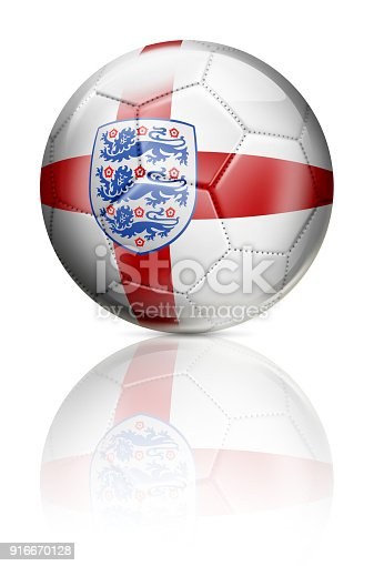 istock England United Kingdom soccer ball with flag isolated on white 916670128