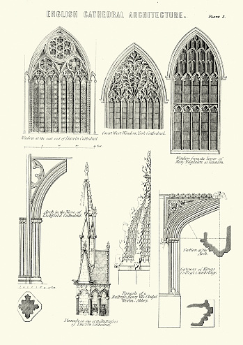 English Cathedral Architecture - Windows and Arches
