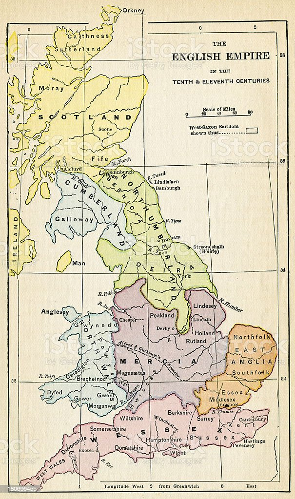 English Empire In The 10th And 11th Centuries royalty-free english empire in the 10th and 11th centuries stock vector art & more images of 19th century