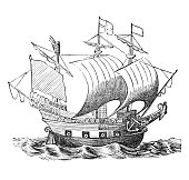 istock English galleon Golden Hind from Sir Francis Drake 1269574256